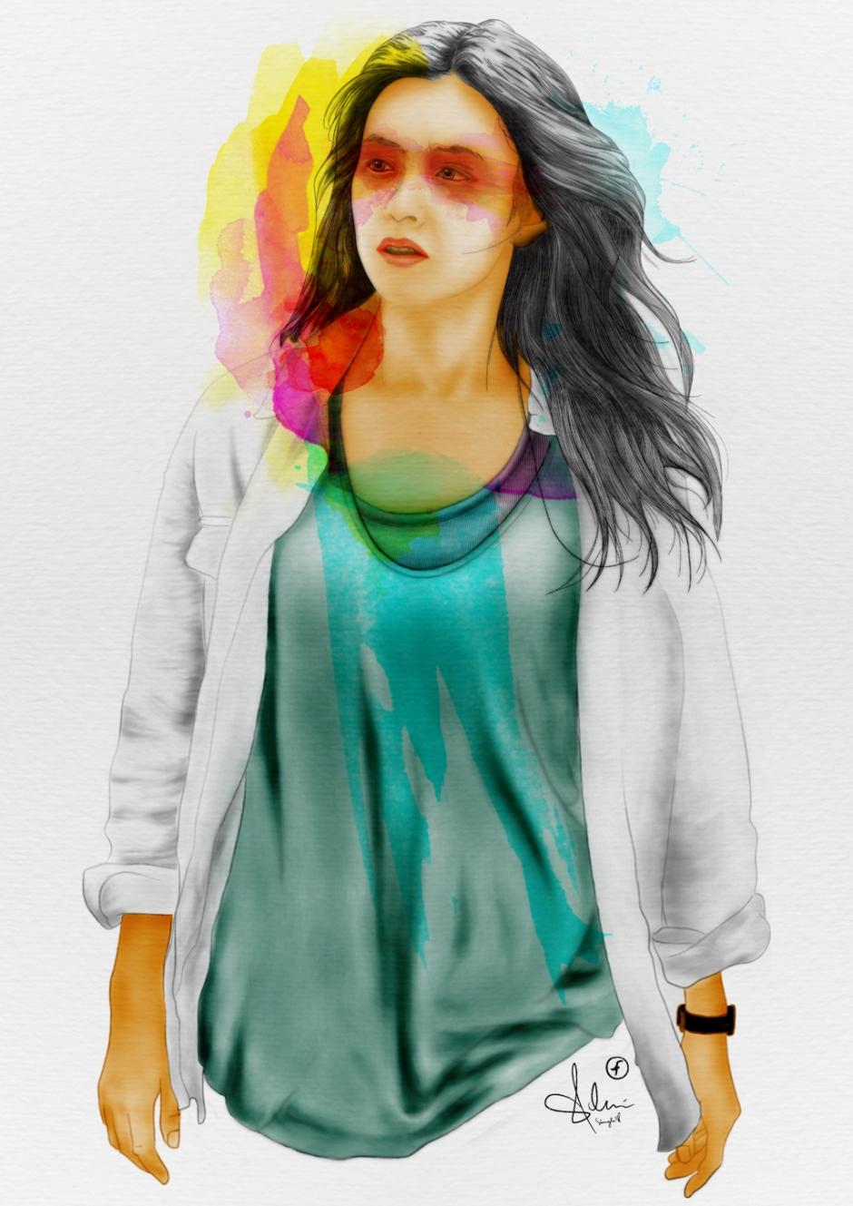 Han Hyo Joo Portrait Fan Art by GFRI