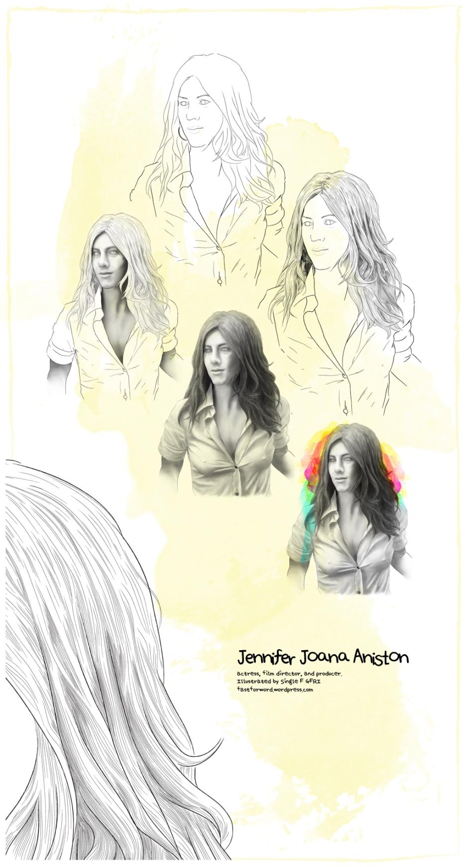 Jennifer Aniston Fan Art by GFRI