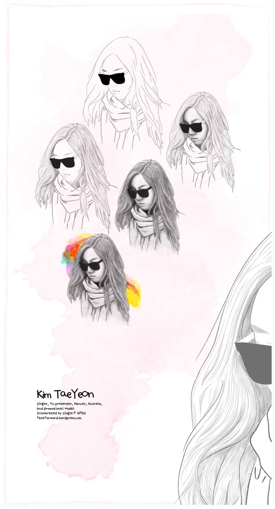Kim TaeYeon Illustration Progress by GFRI